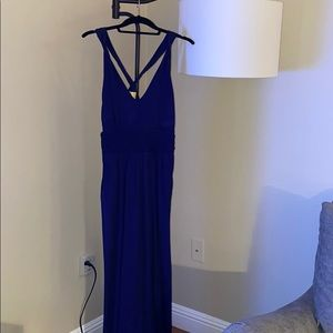 Blue formal dress with pockets